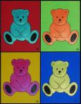 Red Ted Art - Four Teds